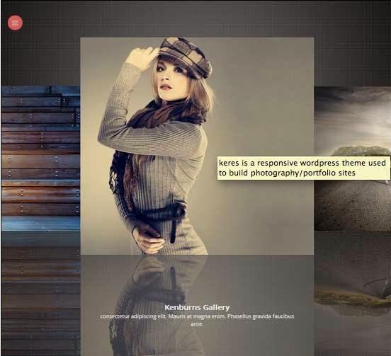 Keres Fullscreen Photography Theme