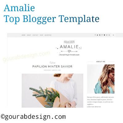 Amalie blogger template image