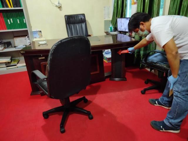 Satreskrim Polres Lingga Gelar Rekontruksi Olah TKP Atas Dugaan Tindakan Pengrusakan Kantor BKPSDM Kabupaten Lingga
