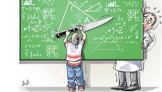 تلميذ يعتدي على أستاذ منعه من الغش في الامتحان