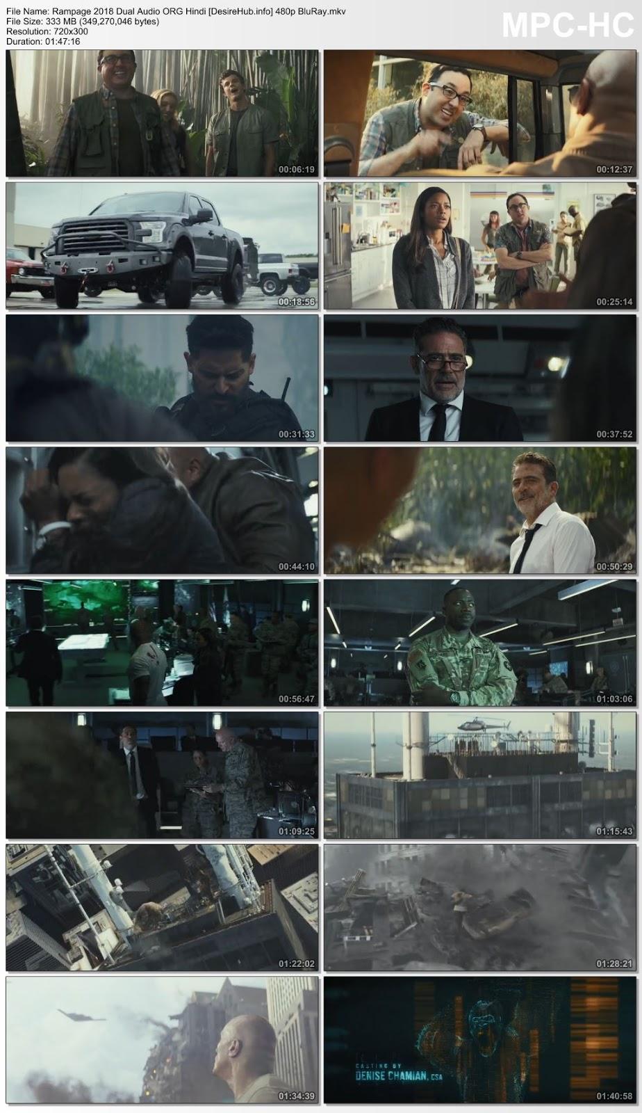 Rampage 2018 Dual Audio ORG Hindi 480p BluRay 300MB Desirehub