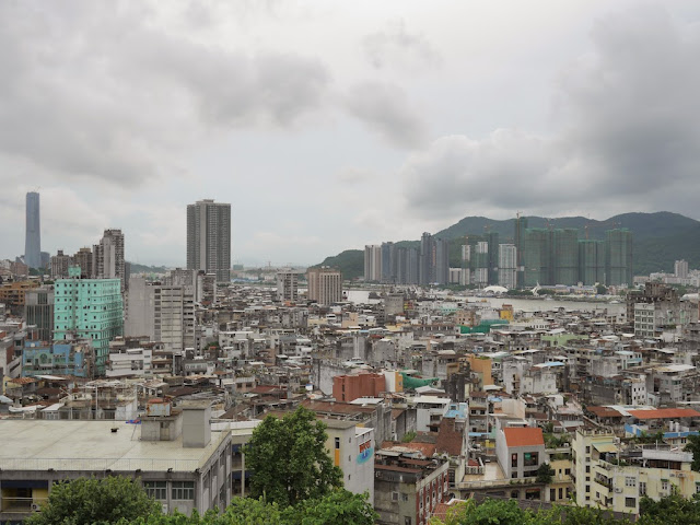View of Macau and Zhuhai facing southwest from Monte Fort