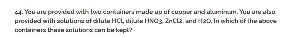 CH-1 Class 10th NCERT Exemplar Question Answer classXscience Q44.