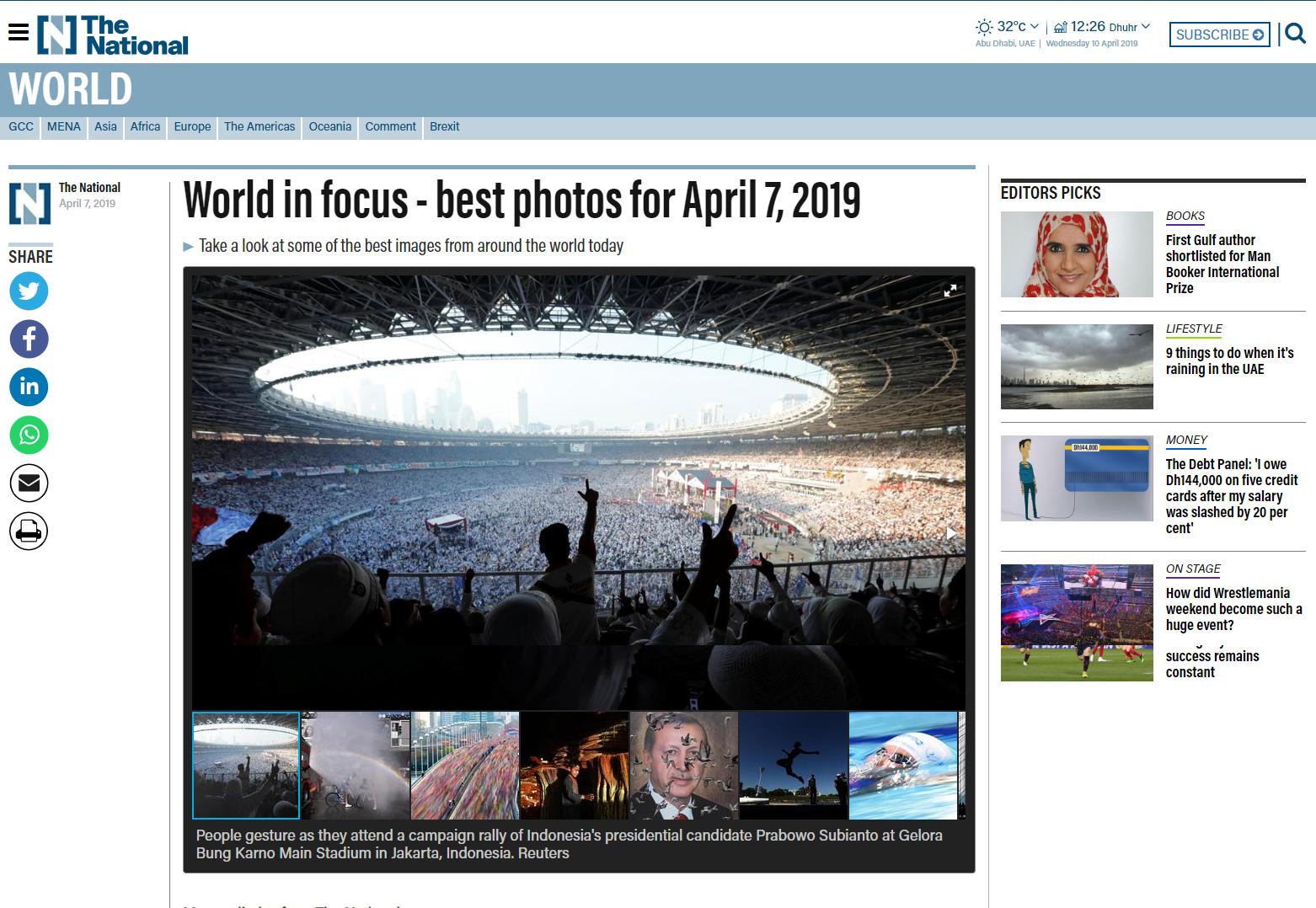 Kampanye Spektakuler Prabowo-Sandi di GBK Masuk <i>Best World Photos</i>
