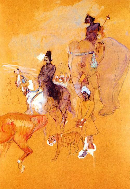 The Procession of the Raja by Henri de Toulouse-Lautrec