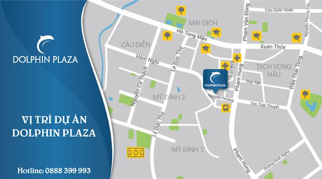 vị trí dự án Dolphin Plaza