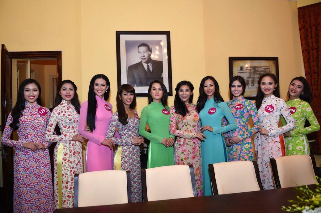Ngày hội áo dài tại Lễ hội hoa Đà Lạt 2017
