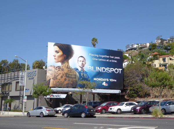 Blindspot NBC series billboard