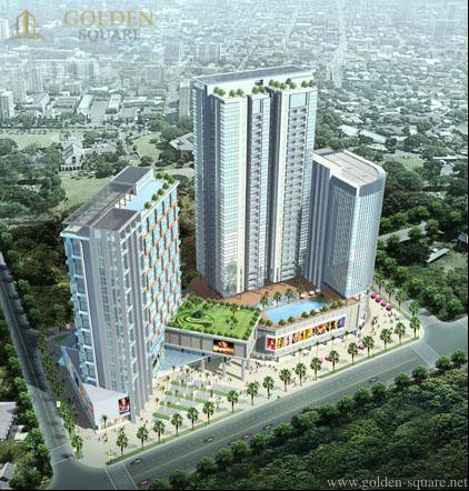 Hình ảnh phối cảnh toà chung cư Golden Square