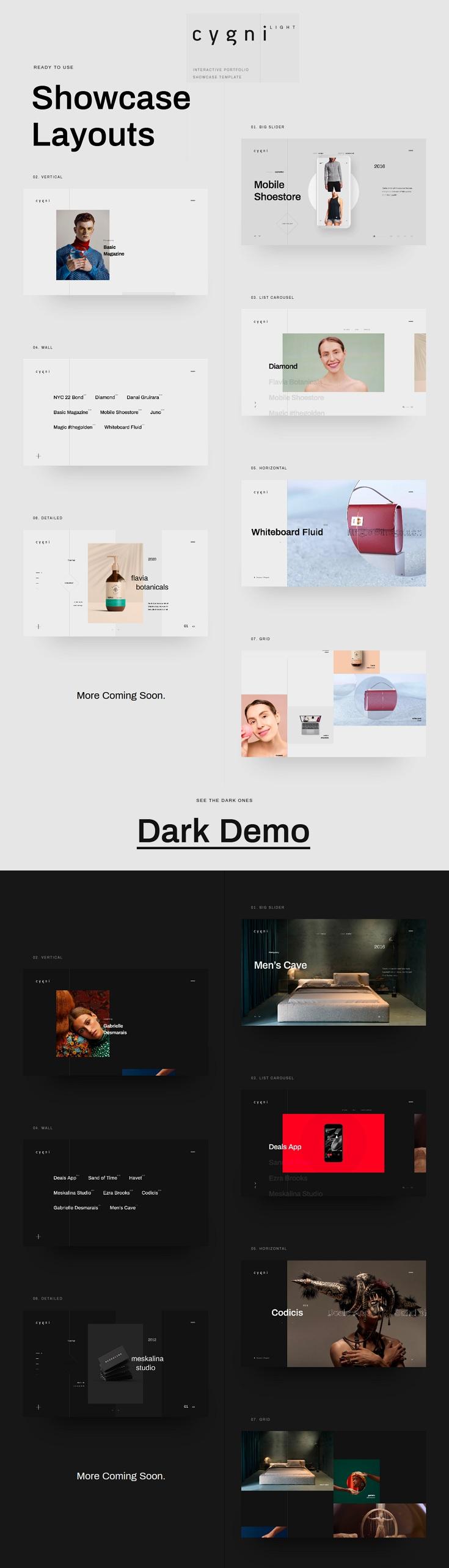 Interactive Portfolio Showcase WordPress Theme