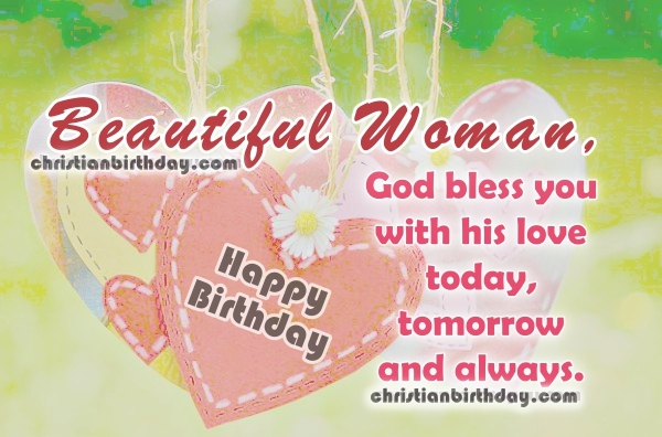 3 Images With Christian Birthday Wishes For A Beautiful Woman