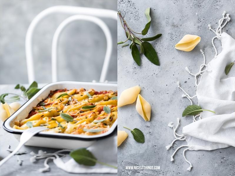 Rezept für gefüllte Conchiglioni mit Käse, Pancetta und Salbei