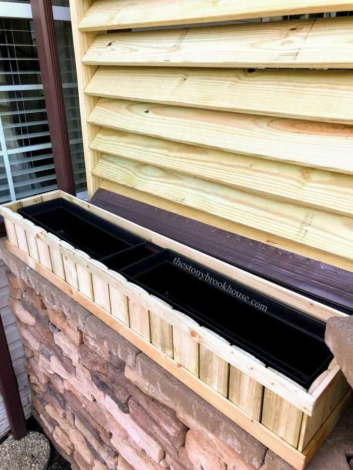 Privacy Screen Window Box