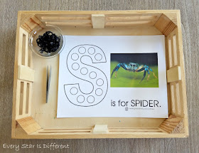 S is for Spider Do-a-Dot Printable