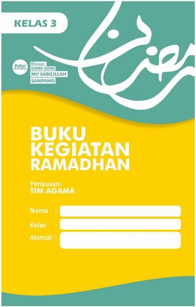 Contoh Buku Kegiatan Ramadan Siswa Kelas 3 SD/MI