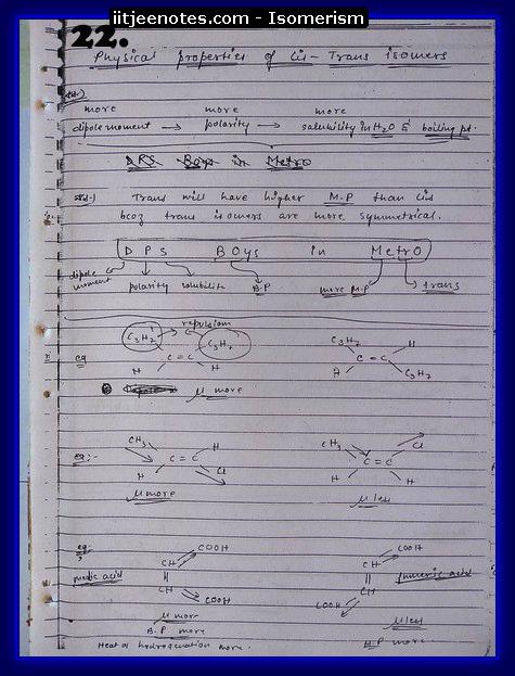 Isomerism Notes6