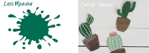 colore Lush Meadow e progetto cactus cartoncino riciclato