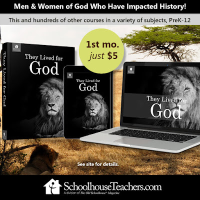 They Lived for God $5 membership post from SchoolhouseTeachers.com