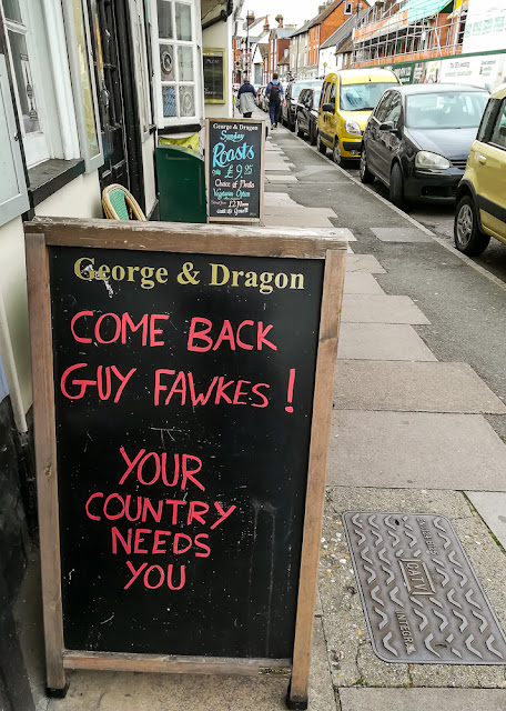 Photo of a particularly apt sign outside another pub in the city