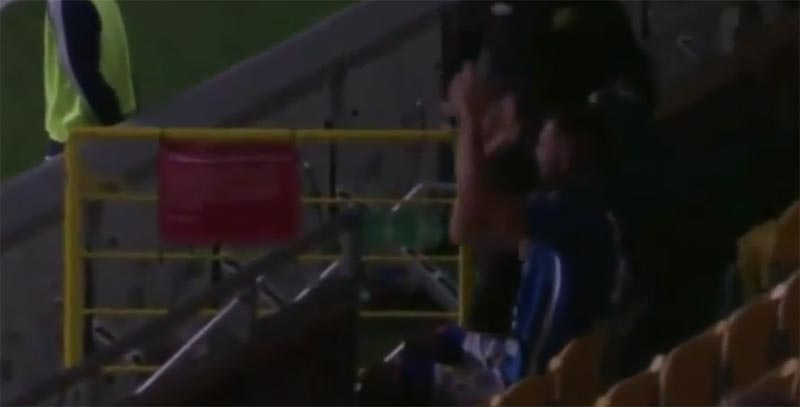 Video: See the celebration that landed Swedish player red card