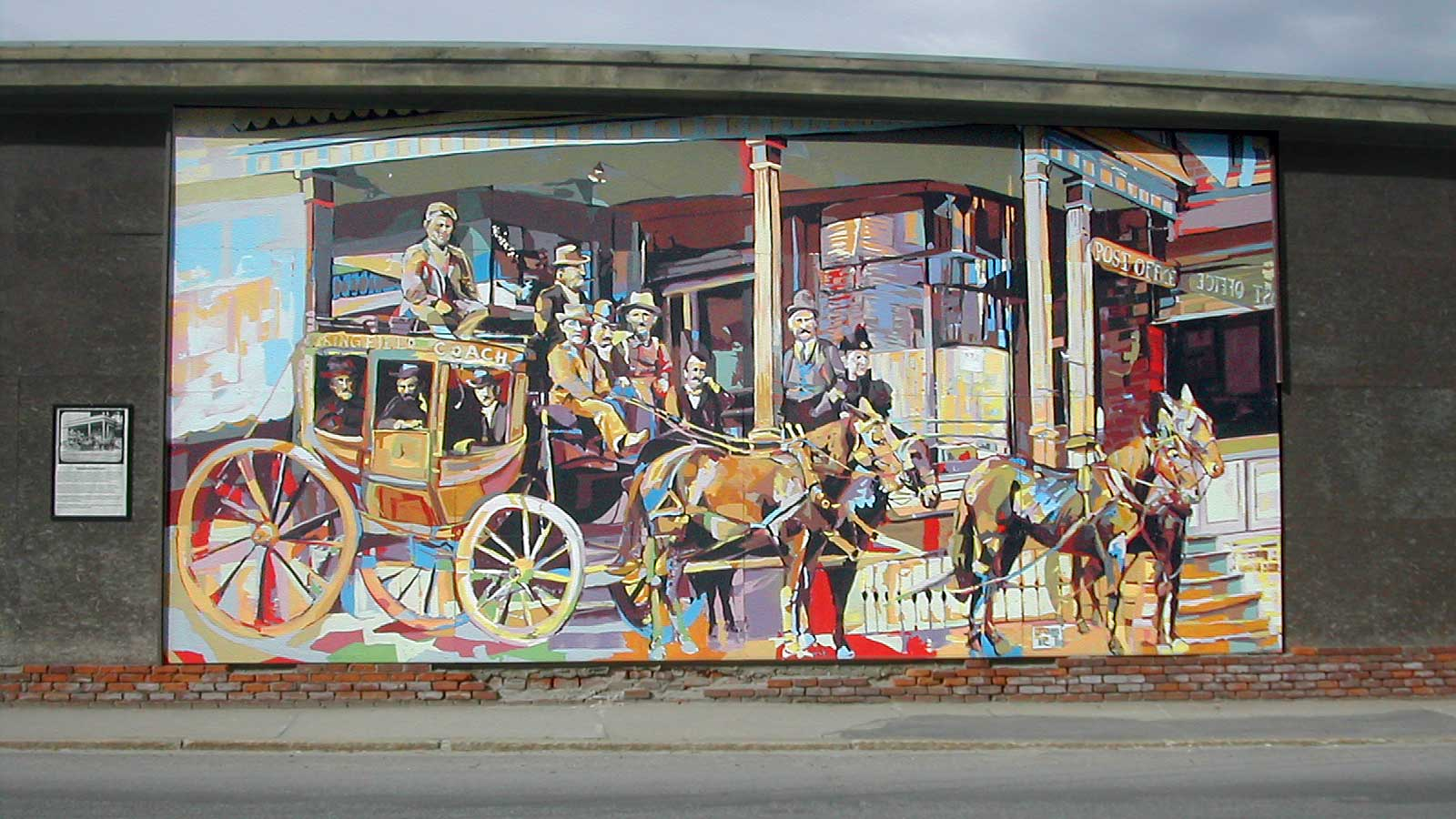 Springfield vermont news downtown mural nods to historic past for 6 blocks from downtown mural