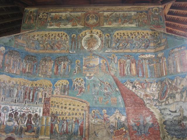 Monasterio Voronet, mural pintado