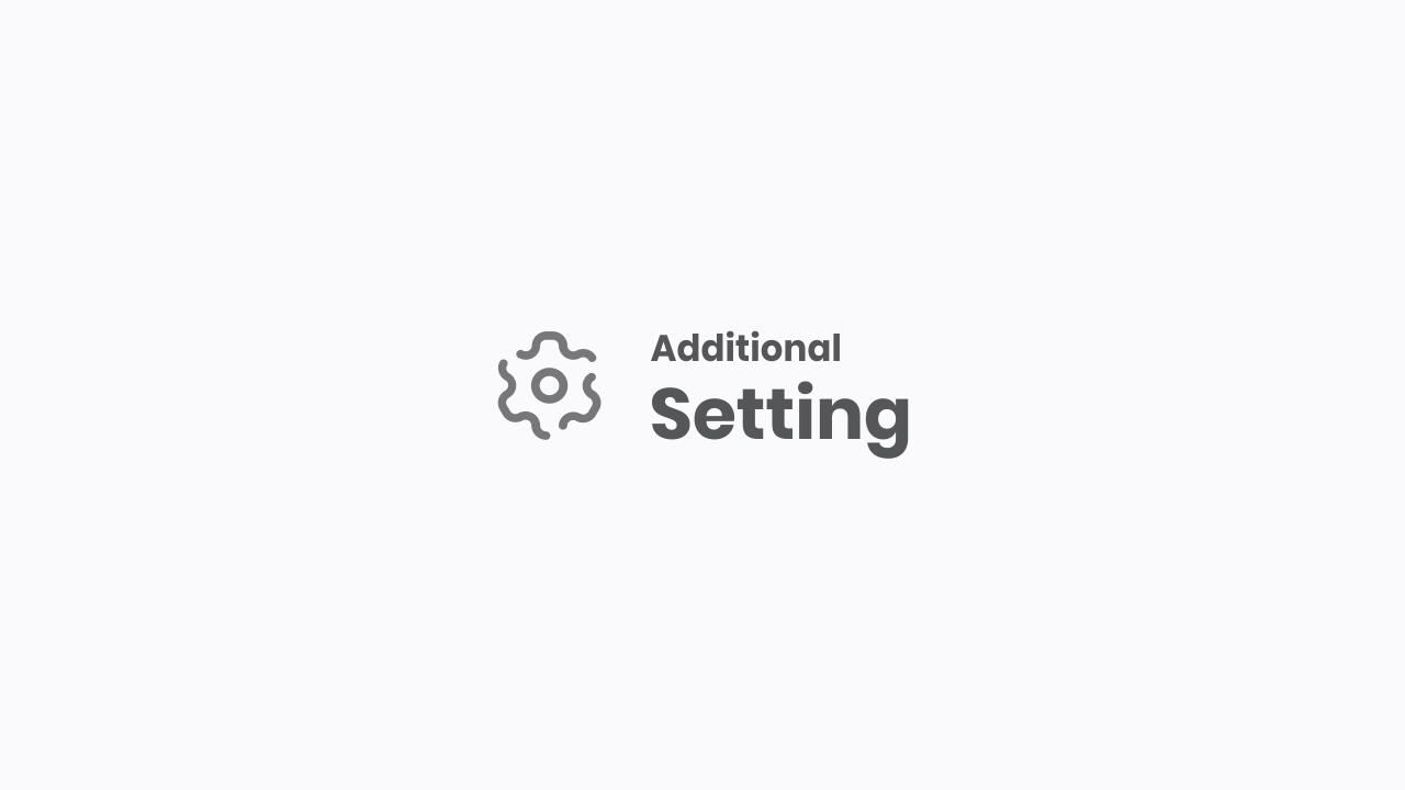 Optional Settings for Median UI