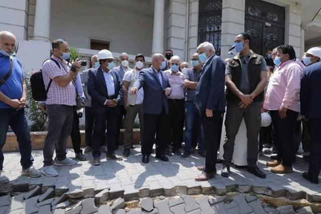 وزير النقل يتفقد محطة صفاء حجازي بالزمالك.