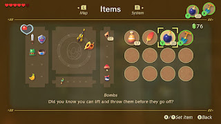 screenshot of the inventory menu