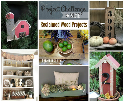 Rustic Pallet Wood Barn Ornament