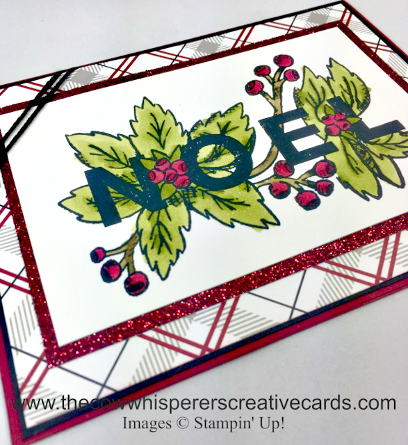 Card, Joy & Noel, Festive Farmhouse Designer Series Paper, Glimmer Paper, Christmas Card