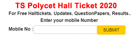 Telangana POLYCET Hall Tickets 2020