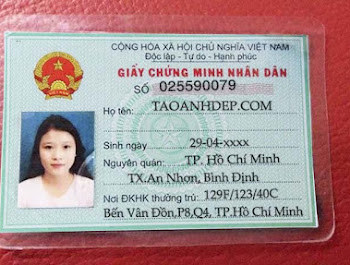 Share file PSD CMND Nữ chưa fix mới nhất