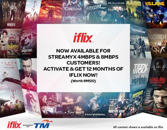 iFlix Percuma Setahun Pelanggan Streamyx