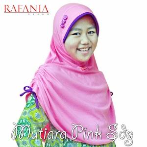 Kerudung Rafania Model Mutiawa Warna Pink