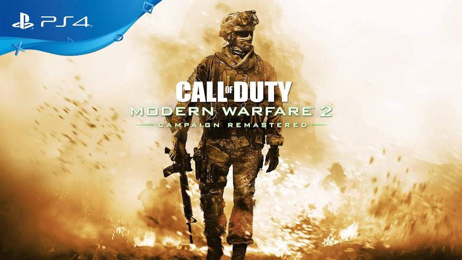 call of duty modern warfare 2 campaign remastered ps4 playstation network infinity ward activision Beenox