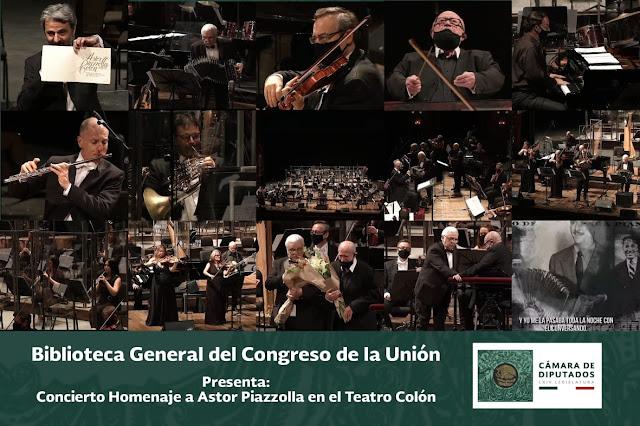 Transmiten el Concierto Homenaje a Piazzolla desde el Teatro Colón, a cargo de la Filarmónica de Buenos Aires