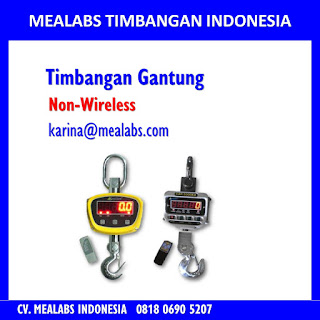 Jual Timbangan gantung atau crane scale tanpa wireless mealabs timbangan indonesia