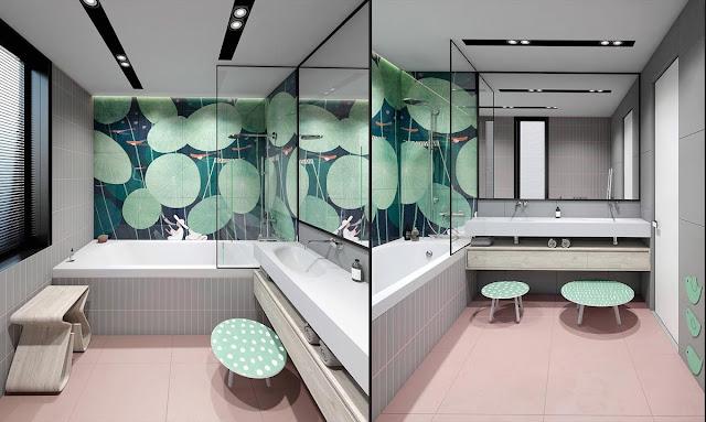 Modern Master Bathroom Interior Design