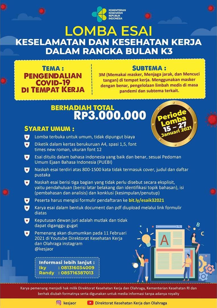 Lomba Esai Kementerian Kesehatan Republik Indonesia