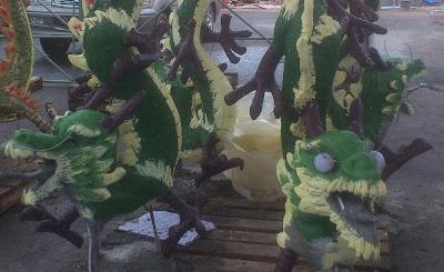 Pembuatan patung Naga Kelenteng Hok Tek Che Belitung