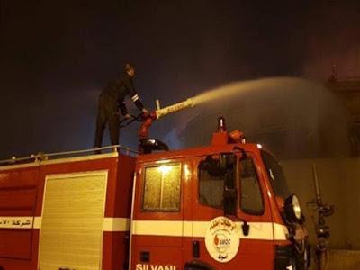عاجل حريق كبير فى ستوديوهات قناة الأهلي وإيقاف البث المباشر لبرامج القناة
