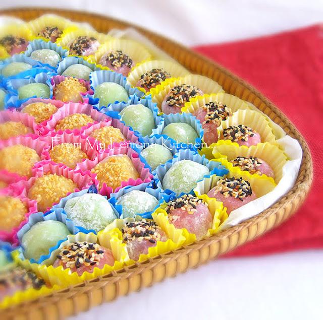 Durian filled daifuku cakes
