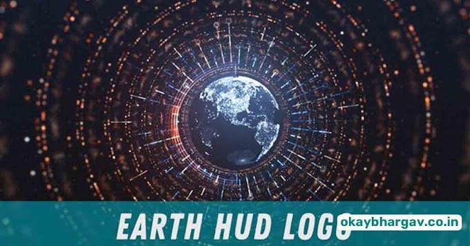 Download VideoHive Earth HUD Logo Reveal Free - Okay Bhargav