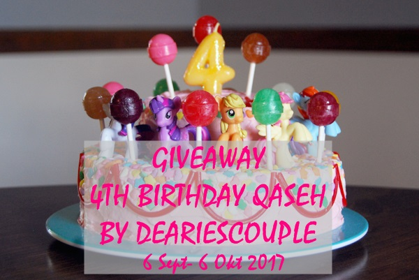 Giveaway Qaseh's 4th Birthday by DeariesCouple