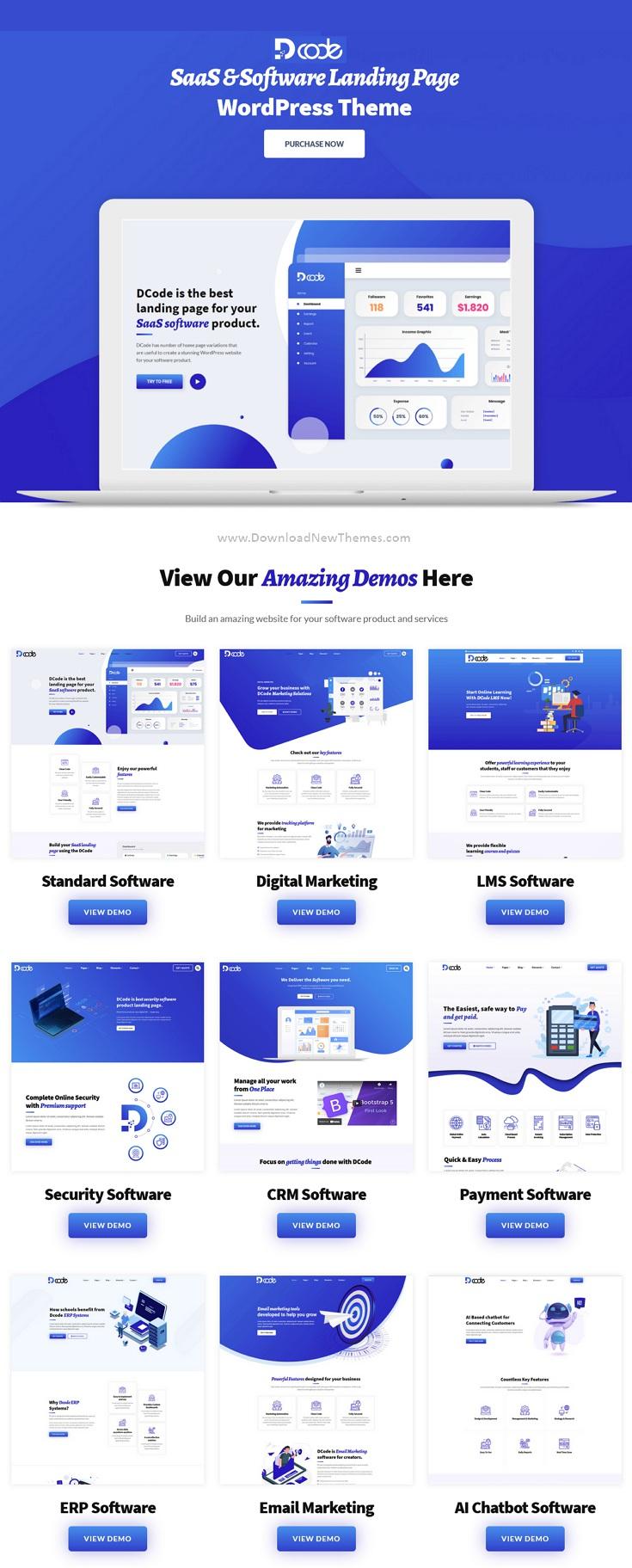 SaaS and Software Landing Page WordPress Theme