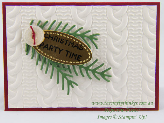 stampin Up, #thecraftythinker, Xmas, Christmas, Invitation, Cable Knit, Stitched Shapes framelit, Stampin Up Australia Demonstrator, Stephanie Fischer, Sydney NSW