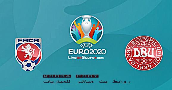 مباراة التشيك والدانمارك في بطولة يورو 2020