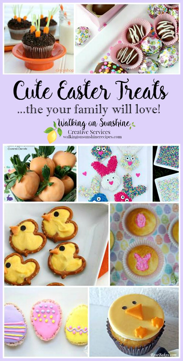 Cute Easter Treats | Adorable Bunny Treats | Walking on Sunshine