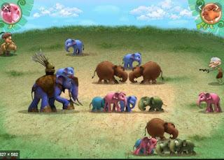 Chơi game đại chiến voi rừng hay